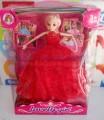 Búp bê Barbie Princess váy đỏ xinh xắn