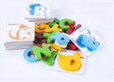 Bộ thẻ chữ cái 3D cho bé tập ghép từ vựng tiếng Anh thông minh