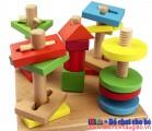 Đồ chơi gỗ thông minh - Cọc hình học XH016