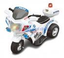 Xe máy điện trẻ em kiểu dáng xe cảnh sát màu trắng XCS001